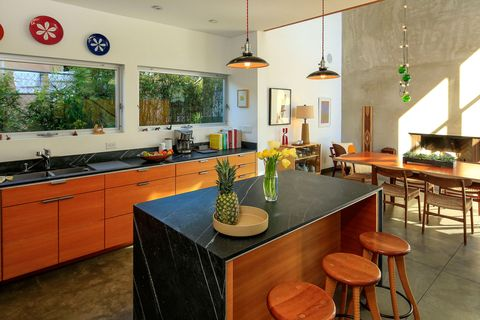 An open-plan living area