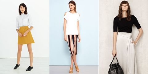 Summer skirts La Redoute, Wallis, Marks and Spencer