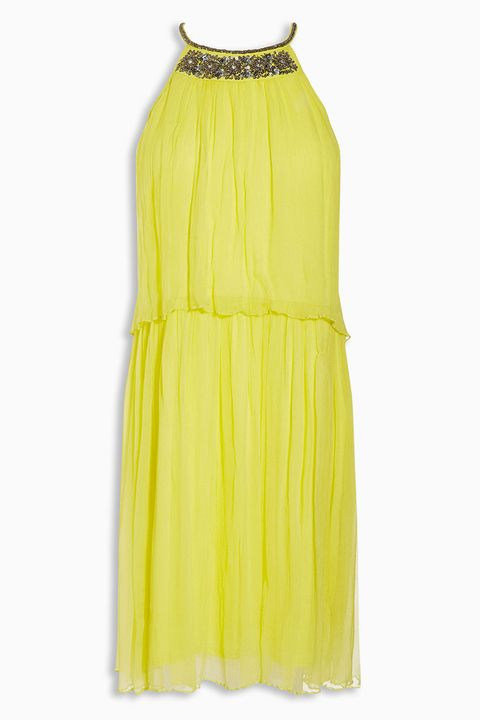 Next embellished yellow dress
