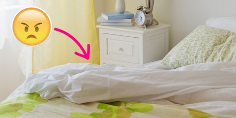 Yellow, Room, Green, Chest of drawers, Textile, Linens, Bed sheet, Bedroom, Bedding, Drawer,