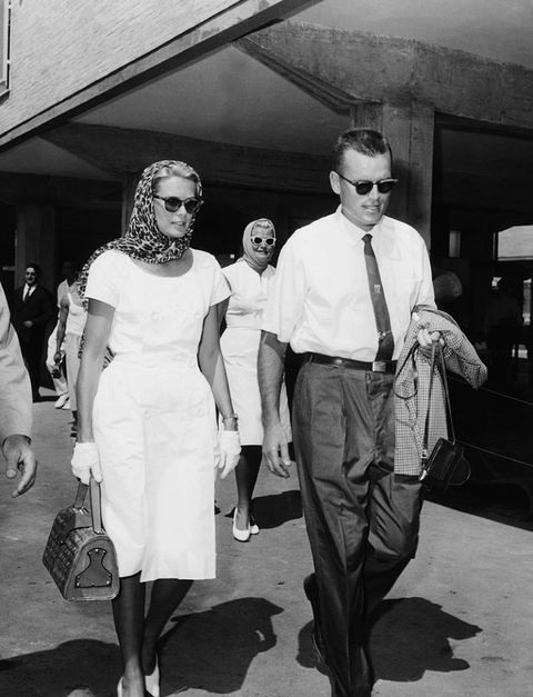 ITALY - AUGUST 28:  During the Olympic Games in Rome, Princess GRACE of MONACO, visiting her brother Jack B. KELLY who was a member of the U.S canoeing team, walked beside him in the Olympic Village.  (Photo by Keystone-France/Gamma-Keystone via Getty Images)