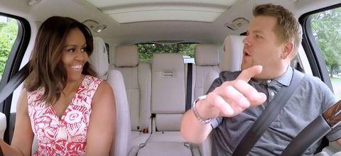 Michelle Obama James Corden Carpool Karaoke The Late Late Show