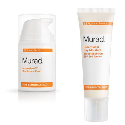 Murad Intensive-C Radiance Peel, Essential-C Day Moisture SPF 30