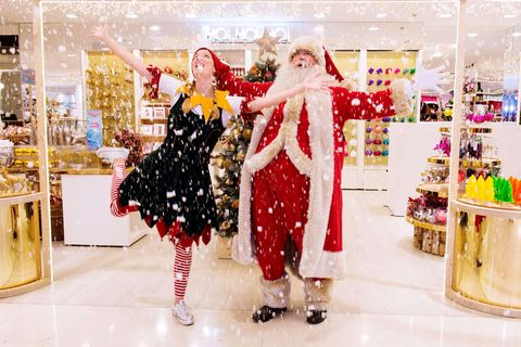 Holiday, Interior design, Christmas, Retail, Christmas decoration, Decoration, Display window, Christmas eve, Costume design, Santa claus,