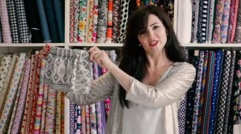 Product, Shoulder, Pattern, Textile, Retail, Fashion, Temple, Linens, Long hair, Creative arts,