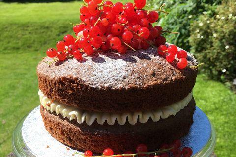 Cake, Cuisine, Food, Sweetness, Ingredient, Dessert, Red, Baked goods, Cake decorating, Dish,