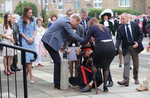 Prince William  dignitary falls