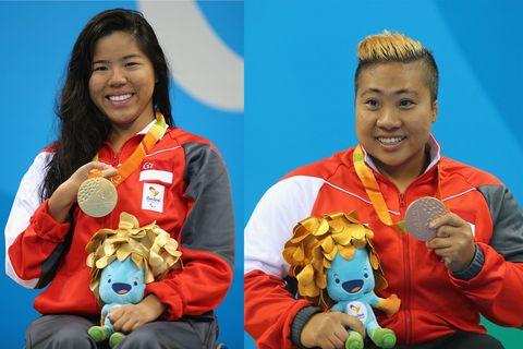 Yip Pin Xiu and Theresa Goh