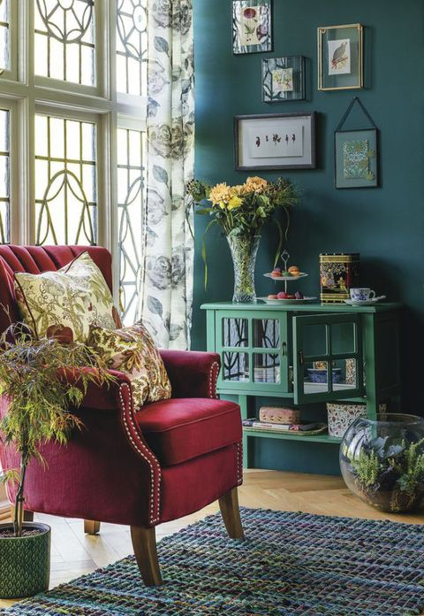 Green, Interior design, Room, Floor, Flooring, Wall, Home, Interior design, Living room, House,