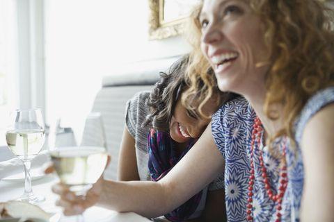 Woman wine