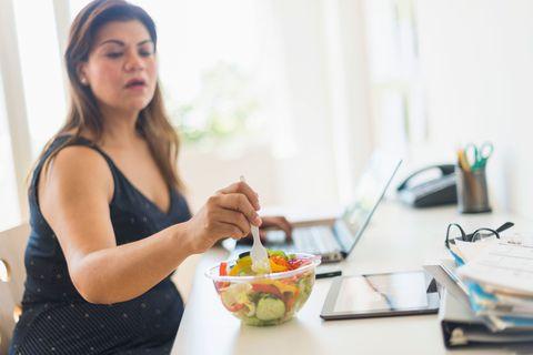 Woman salad