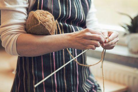 Textile, Wrist, Wool, Pattern, Beige, Thread, Houseplant, Woolen, Flowerpot, Craft,