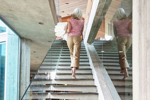 Woman stairs