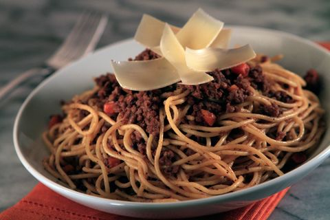 Food, Cuisine, Spaghetti, Noodle, Ingredient, Chinese noodles, Dish, Pasta, Fried noodles, Recipe,