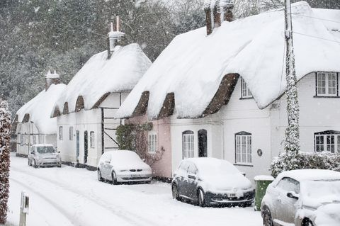 Cottages in winter