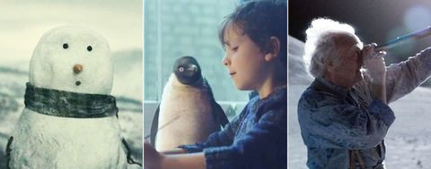 John Lewis adverts, The Snowman, Monty the penguin, The Man on the Moon