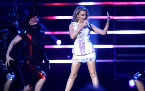 Kylie Minogue performing