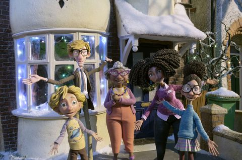 Human, Animation, Cartoon, Fiction, Animated cartoon, Snow, Fictional character,