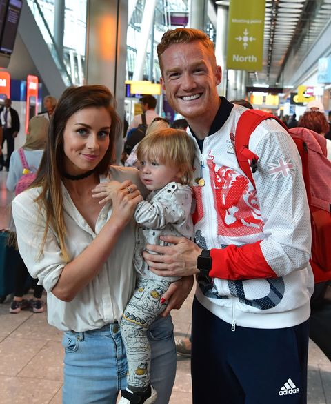 Greg Rutherford and family