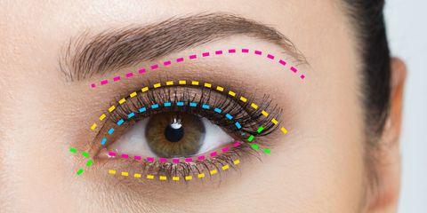 Colorfulness, Blue, Brown, Green, Yellow, Skin, Eyelash, Forehead, Eyebrow, Purple,