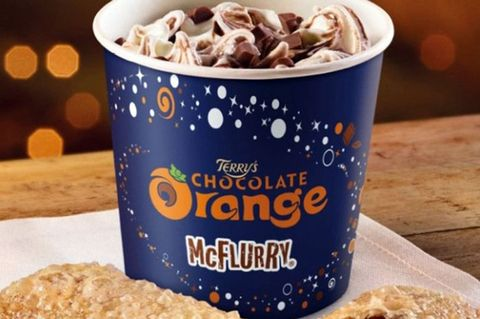 Terry's Chocolate Orange McFlurry