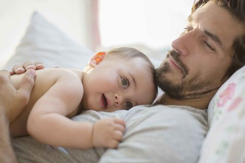 Dad with baby