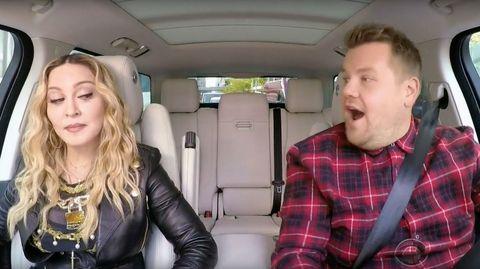 Madonna Carpool Karaoke James Corden