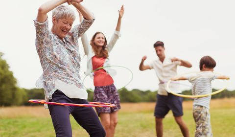 Older woman having fun