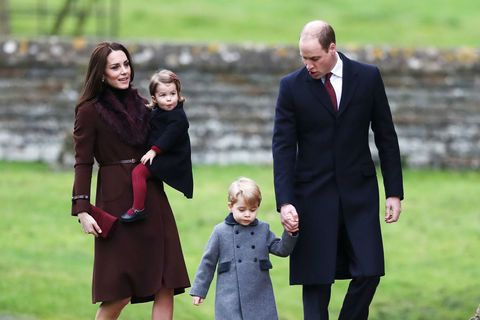 Kate Middleton, Prince William, Prince George and Princess Charlotte on Christmas Day