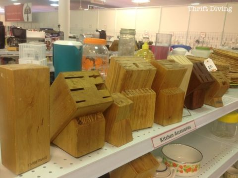 <p>One might assume that this kitchen accessory's slats are only fit for slim blades, but a clever blogger had another idea.</p>