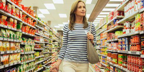 Woman at supermarket