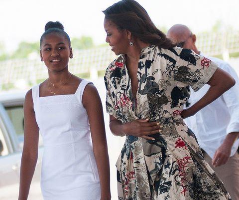 Michelle and Sasha Obama