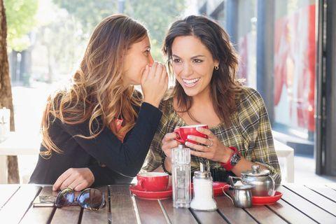 two friends gossiping