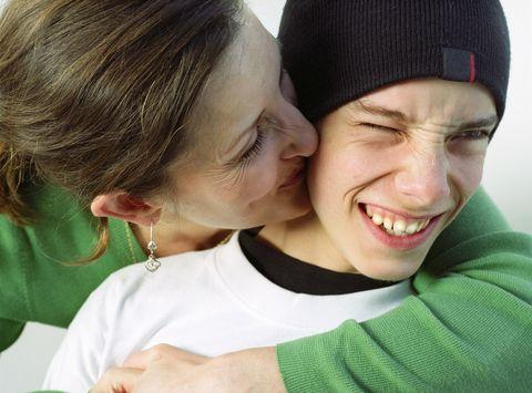 Mum with teenage son