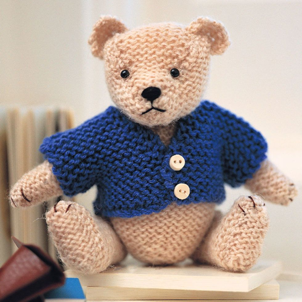 "New Knitted Button Thru Sweater 10/"" 12/"" Bear or Doll"