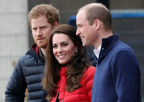 William, Kate and Harry relay race