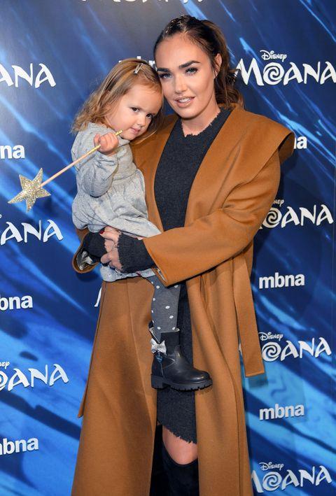 Tamara Ecclestone and daughter Sophia attend the UK Gala screening of 'MOANA' at BAFTA on November 20, 2016 in London
