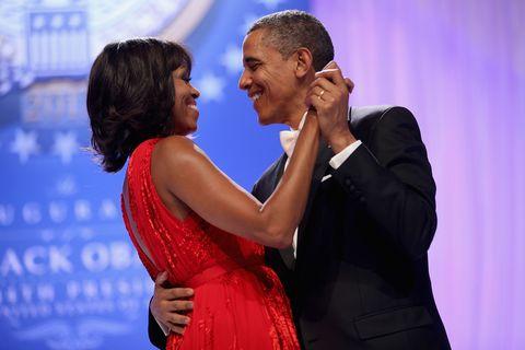 Obamas dancing