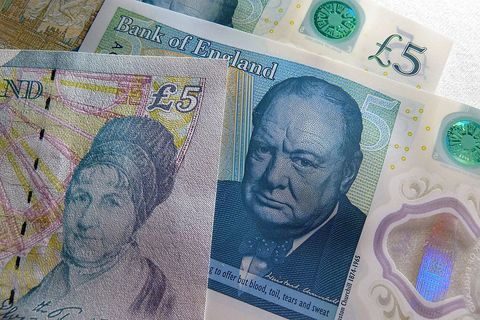 Elderly woman finds rare £5 note worth £50,000 and donates the money to charity