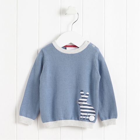 Clothing, Sleeve, White, Blue, Clothes hanger, Outerwear, Long-sleeved t-shirt, Sweater, Top, Crop top,