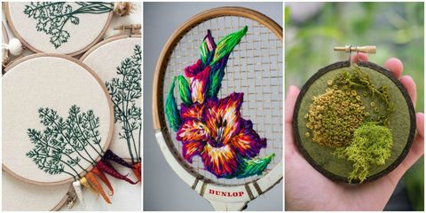Plant, Feather, Flower, Fashion accessory, Embroidery,