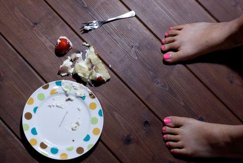 Dropping food on floor