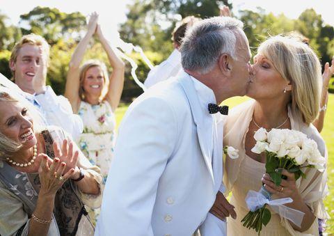 Middle aged couple wedding