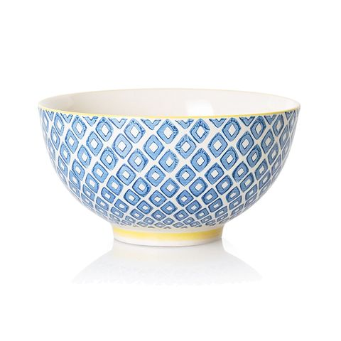 Porcelain, Bowl, Tableware, Dishware, Serveware, Ceramic, Yellow, Turquoise, Blue and white porcelain, Mixing bowl,