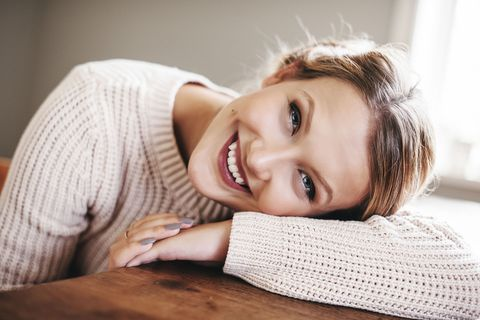 Woman relaxed and happy