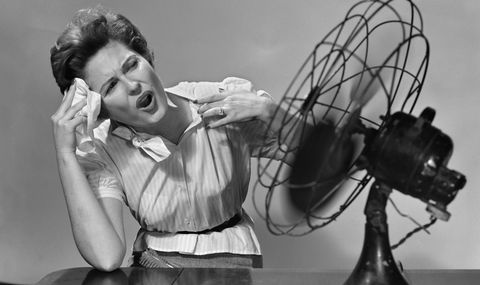 Woman with hot flashes