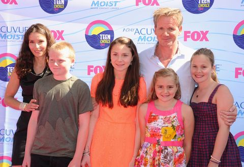 Gordon Ramsay and his family in 2012