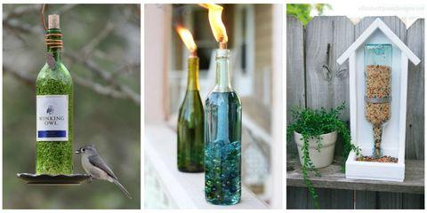 recycled bottles in your garden