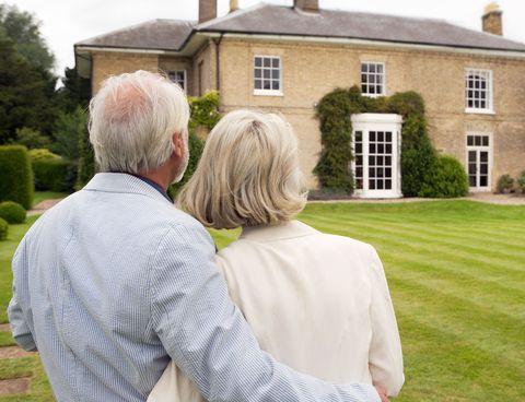 Wealthy older couple
