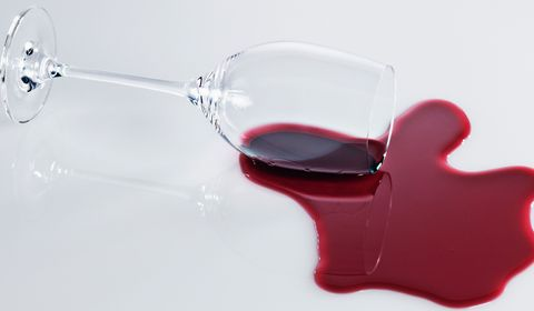 This surprising ingredient gets red wine stains out of any fabric, apparently